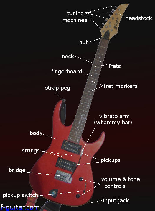 electric guitar parts diagram string finger numbering and etc. Black Bedroom Furniture Sets. Home Design Ideas