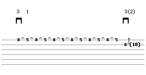 Bend Exercise Lick 1 (guitar tab)