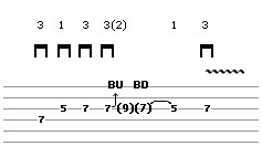 Bend Exercise Lick 2 (guitar tab)