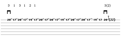 Bend Exercise Lick 3 (guitar tab)