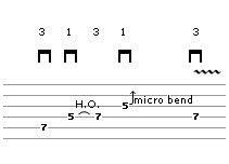 Bend Exercise Lick 6 (guitar tab)