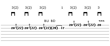 Bend Exercise Lick 7 (guitar tab)