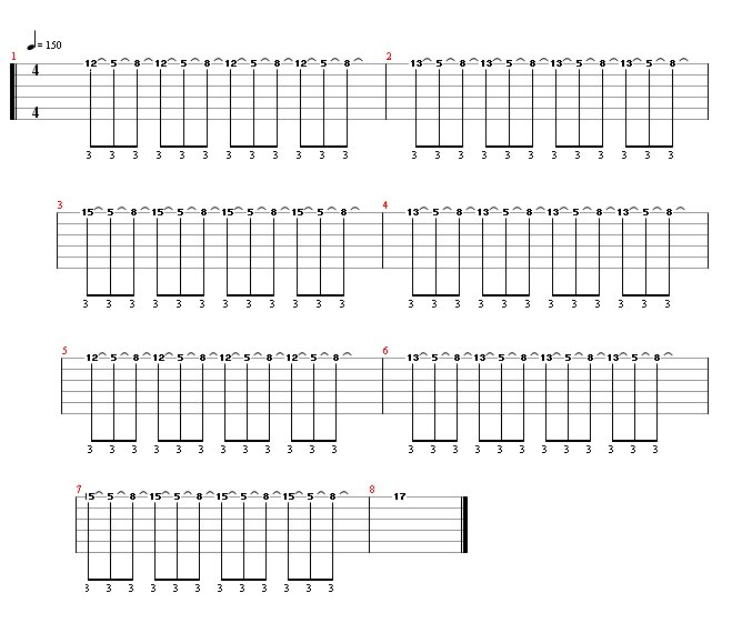 Melodic Tapping Lick Guitar Tab