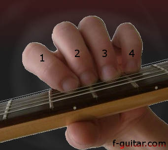 Finger Numbering on the Fretting Hand
