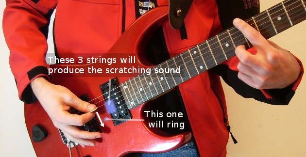 How to rake on electric guitar
