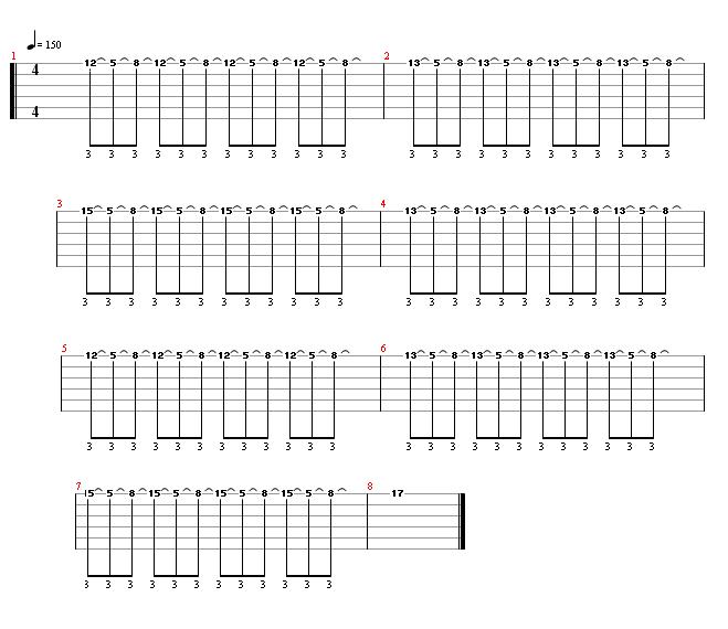 Lick 20 - guitar tablature