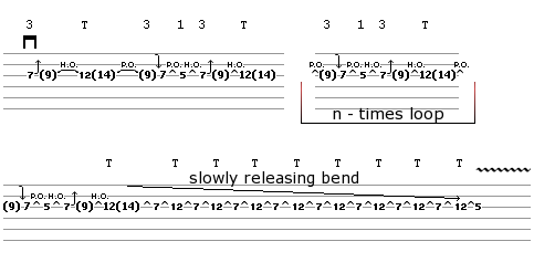 Lick 5 - guitar tablature