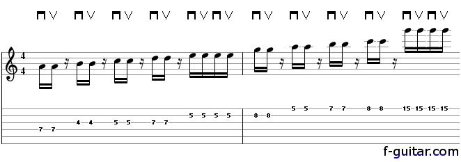 Lick 16 - guitar tablature