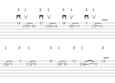 Lick 21 (Sophisticated Beatiful Phrase) - guitar tablature
